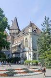 Tourists enjoying the beautiful weather visit Vajdahunjad Castle on August 9, 2015 in Budapest, Hungary. Stock Photo