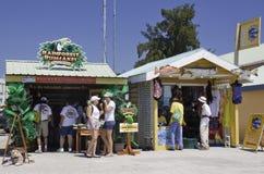 Tourists enjoying Belize City Cruise Port Area Stock Photos
