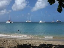 Tourists enjoying christmas in the caribbean stock video footage