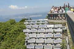 Tourists Enjoying Corcovado, Brazil Royalty Free Stock Photos