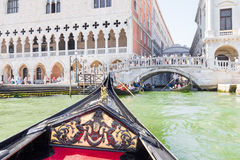 Tourists enjoying the gondolas in Venice, Italy Royalty Free Stock Photos