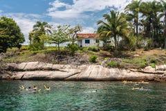 Paraty Bay Rio de Janeiro Brazil Stock Images
