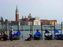 Tourists enjoying a perfect summer day at Venice Royalty Free Stock Photo