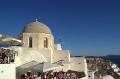 Tourists enjoying Santorini Royalty Free Stock Photography