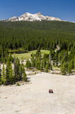 Tourists enjoying view from Lembert Dome. Stock Images