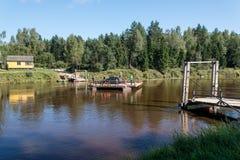 Tourists enjoying water sports, kayaking Royalty Free Stock Photography