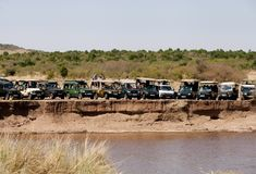 Free Tourists Enjyoing Game Drive In Masai Mara National Reserve Royalty Free Stock Images - 120416479