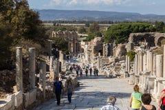 Tourists in Ephesos, Turkey Stock Photos