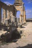 Tourists erxplore the ruins stock images