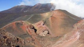 Tourists on Etna mountain Stock Photography