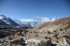 Tourists in the Everest Stock Image