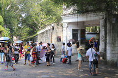 Tourists excursion in gulangyu scenic Royalty Free Stock Photography