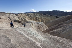 Tourists explore Death Valley Royalty Free Stock Photography