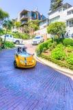 Tourists Explore San Francisco Lombard Street on GoCar Royalty Free Stock Photography