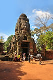 Tourists exploring Angkor thom Stock Image