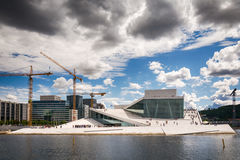 Tourists exploring Oslo Opera House, Norway Royalty Free Stock Image