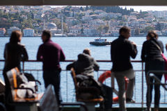 Tourists at ferry boat Royalty Free Stock Photography