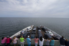 Tourists on ferry boat Stock Images