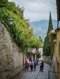 Tourists in Fiesole, Italy Royalty Free Stock Images