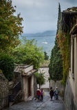 Tourists in Fiesole, Italy (II) Stock Images