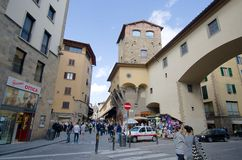 Tourists in Florence, Italy. Tourists on the streets of Florence, Italy. crowded urban city center Stock Images