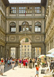 Tourists in Florence, Italy Stock Photography