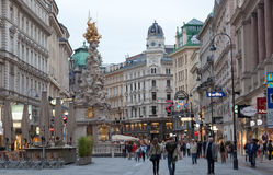 Tourists on foot Graben Street in Vienna, Austria Stock Photo