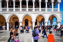 Tourists foot Street in Venice Royalty Free Stock Image