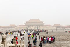 Tourists in the Forbbiden City in beijing