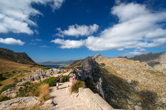 Tourists on Formentor Royalty Free Stock Images