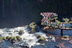 Tourists in Foz do Iguassu Park Stock Photos