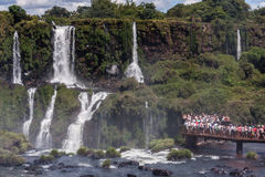 Tourists in Foz do Iguassu Park Royalty Free Stock Image