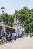 Tourists in front of the gate to Buckingham Palace, London, United Kingdom Royalty Free Stock Photos