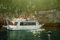 Tourists in front of the Grotta Azzura ,Capri Island Stock Photo