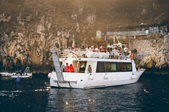 Tourists in front of the Grotta Azzura ,Capri Island Stock Photos