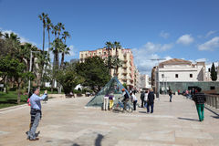 Tourists in Malaga, Andalusia Spain Royalty Free Stock Photography