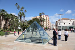 Tourists in Malaga, Andalusia Spain Royalty Free Stock Image
