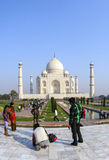 Tourists in front of the Taj Mahal in Agra, India Royalty Free Stock Image