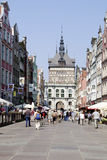 Tourists in Gdansk Royalty Free Stock Image