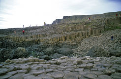 Tourists on the Giant's Causeway Stock Photos