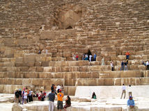 Tourists in Giza. Enter Cheope pyramid, Egypt Stock Images