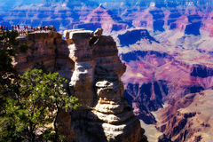 Tourists at Grand Canyon National Park, Arizona, USA Royalty Free Stock Photos