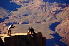 Tourists at Grand Canyon national park Stock Photo