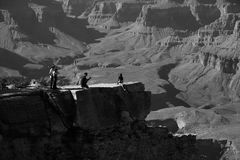 Tourists at Grand Canyon national park Stock Photography