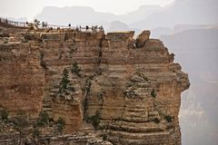 Tourists in Grand Canyon Stock Image