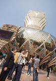 Tourists at the Grand Lisboa Casino in Macau. Stock Images