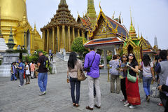 Tourists at grand Palace Royalty Free Stock Image