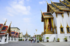 Tourists at grand Palace Royalty Free Stock Images