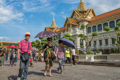 Tourists at The Grand Palace Royalty Free Stock Photo