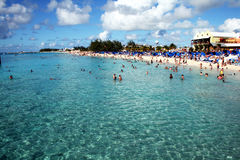 Tourists in grand turk Stock Photography